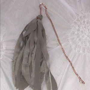Women's tassel necklace
